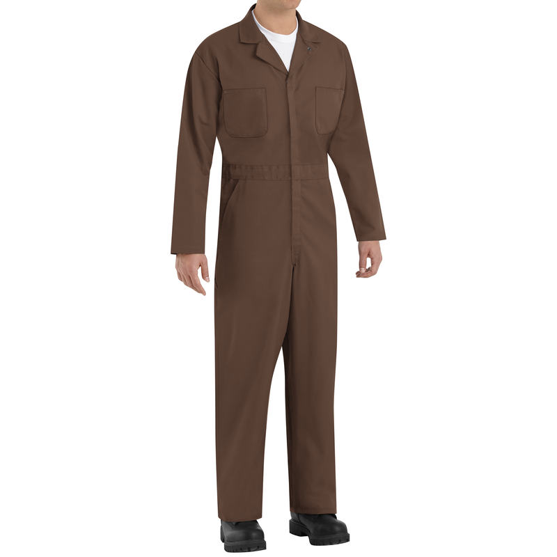 Twill Action Back Coverall with Chest Pockets
