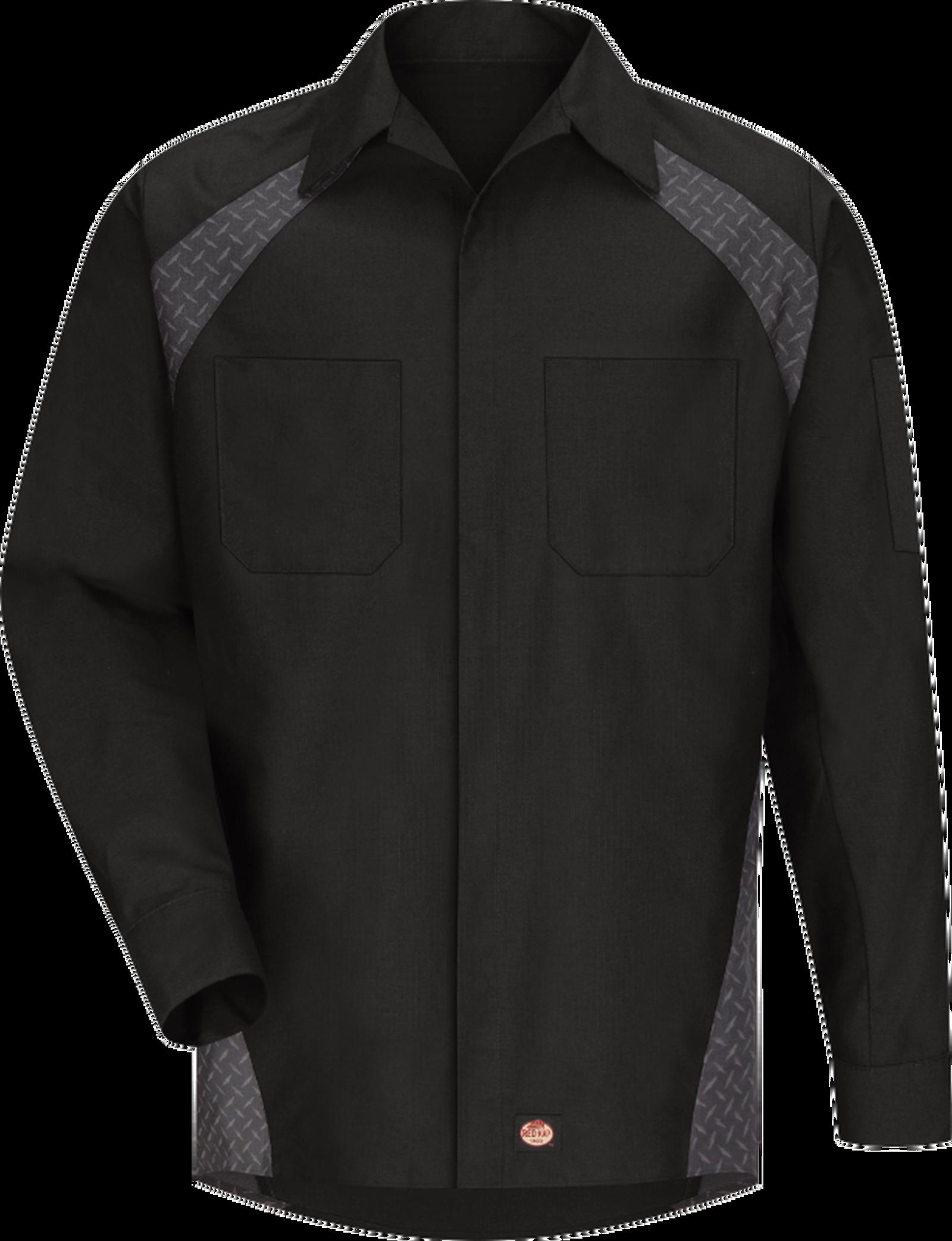 Men's Long Sleeve Diamond Plate Shop Shirt