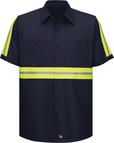 Short Sleeve Enhanced Visibility Cotton Work Shirt