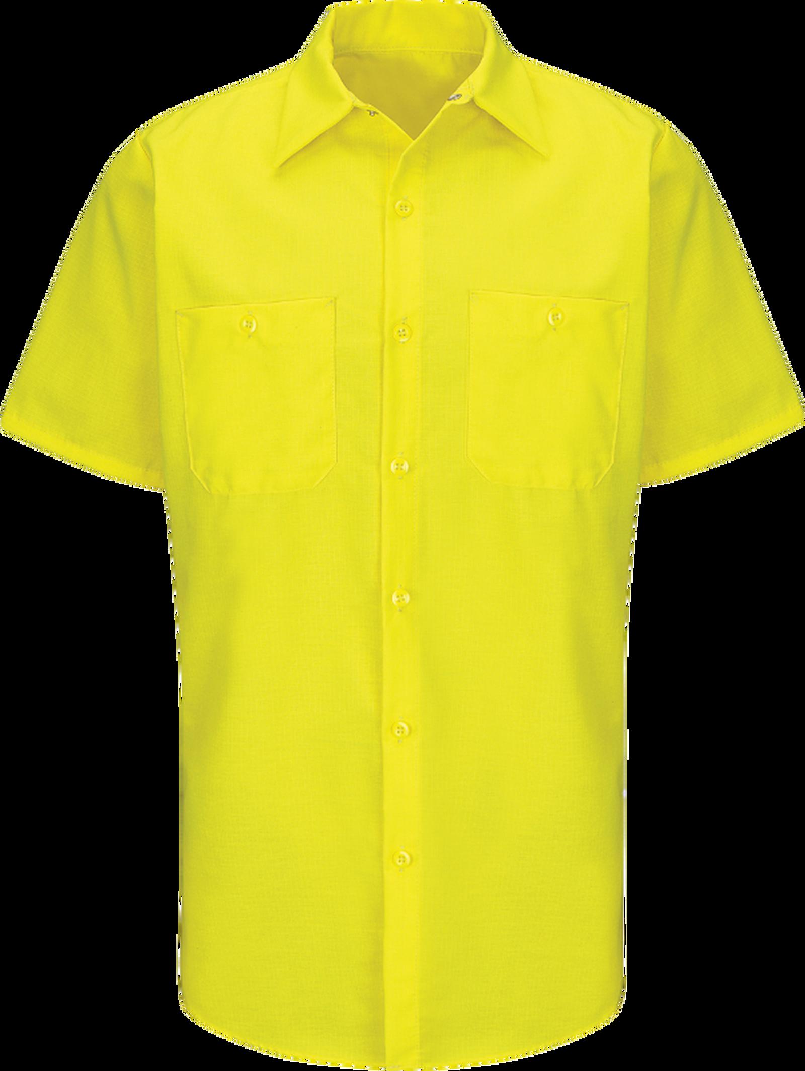 Short Sleeve Enhanced Visibility Ripstop Work Shirt