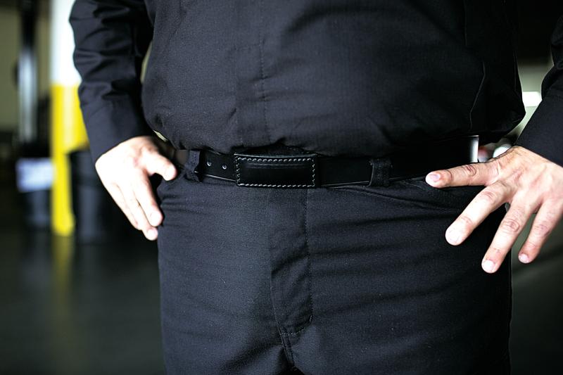 ZeroSkratch Leather Belt
