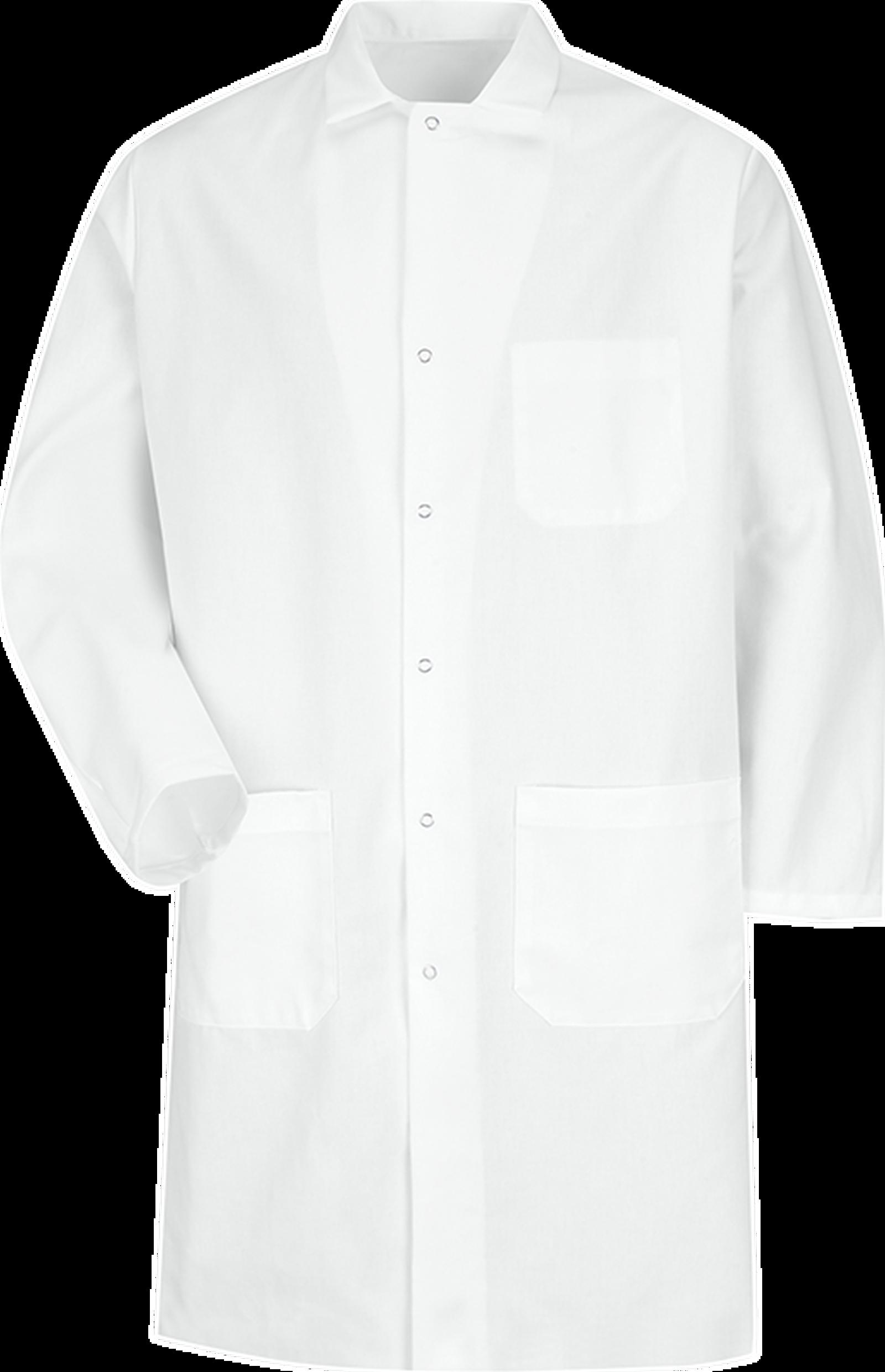 Gripper-Front Butcher Coat