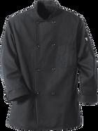 Chef Designs Eight Pearl ButtonBlack Chef Coat