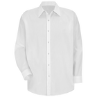 Men's Long Sleeve Specialized Pocketless Polyester Work Shirt