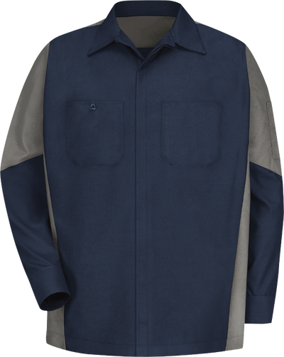 Men's Long Sleeve Two-Tone Crew Shirt
