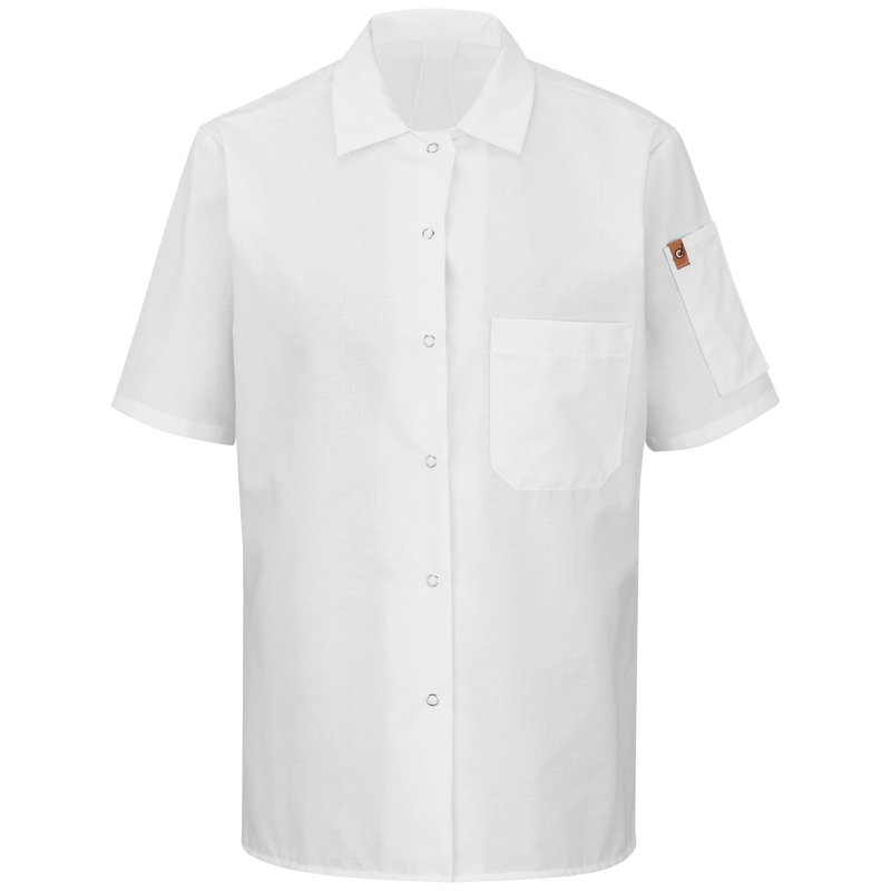 Chef Designs Women's Short Sleeve Cook Shirt with OilBlok + MIMIX™