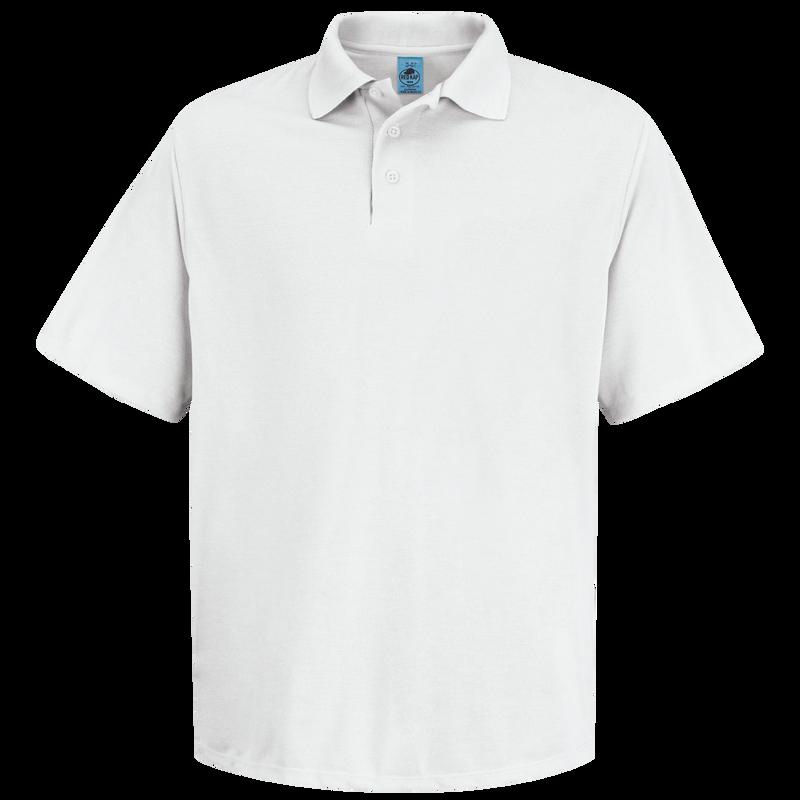 Men's Short Sleeve Spun Polyester Pocketless Polo