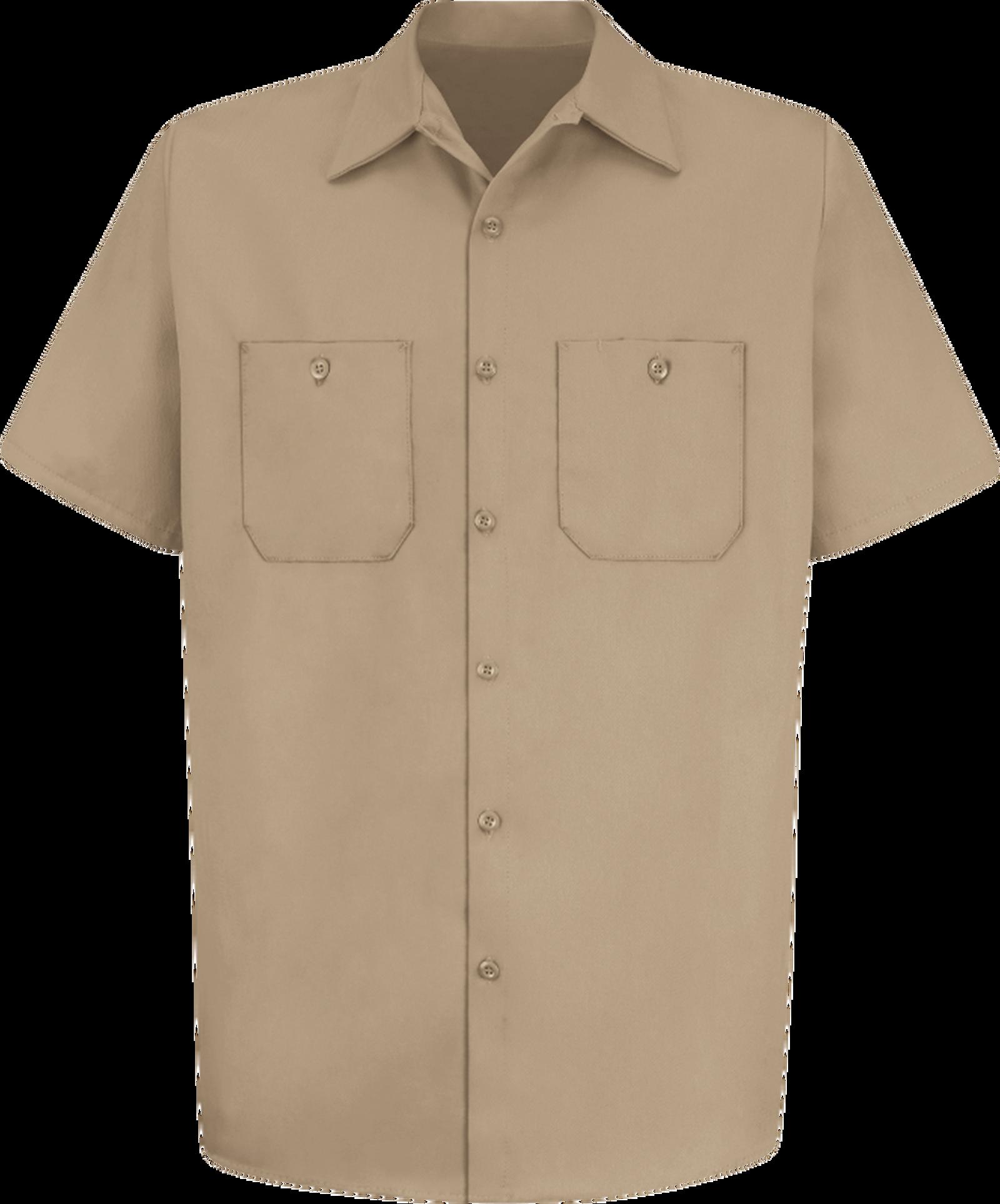 Men's Short Sleeve Wrinkle-Resistant Cotton WorkShirt