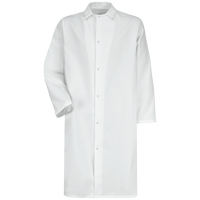 Gripper-Front Butcher Frock without Pockets