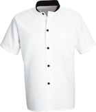 Chef Designs Black Trim Cook Shirt