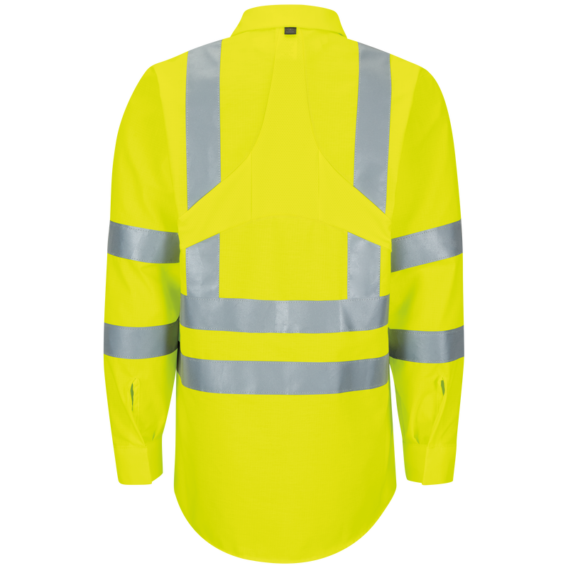 Long Sleeve Hi-Visibility Ripstop Work Shirt with MIMIX™ + OilBlok, Type R Class 2