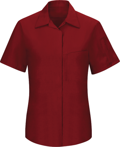 c8562fbf58 Women's Short Sleeve Performance Plus Shop Shirt with OilBlok Technology
