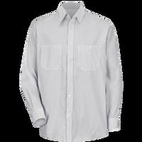 Men's Long Sleeve Striped Dress Uniform Shirt