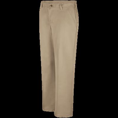 Women S Plain Front Cotton Pant Red Kap