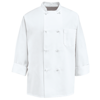 Chef Designs Eight Knot Button Chef Coat