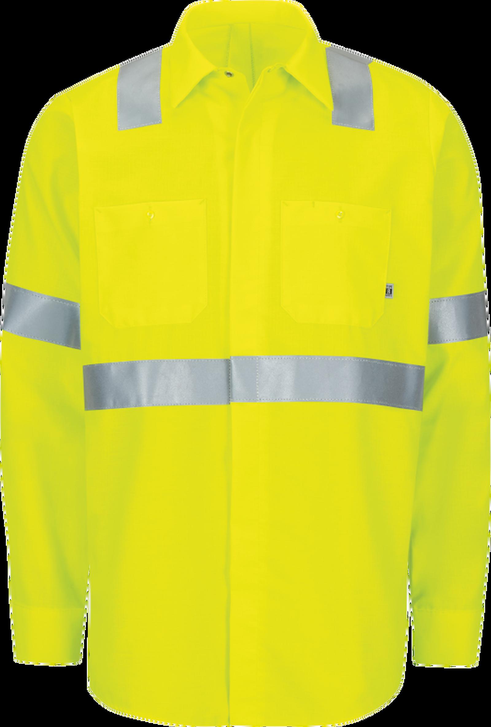 Long Sleeve Hi-Visibility Ripstop Work Shirt with MIMIX™ + OilBlok, Type R Class 2