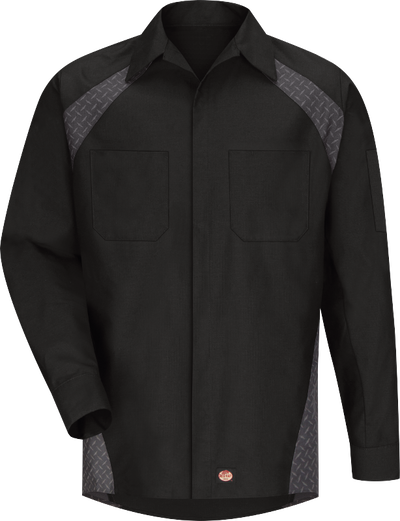 Men's Long Sleeve Diamond Plate Shop Shirt