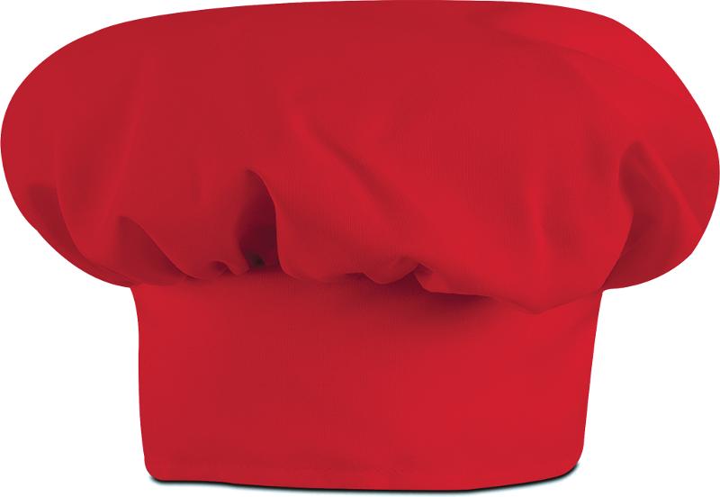"13/"" Chef Hat Cotton//Poly Blend Color White"