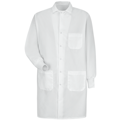 Unisex Specialized Cuffed Lab Coat with Interior Pocket