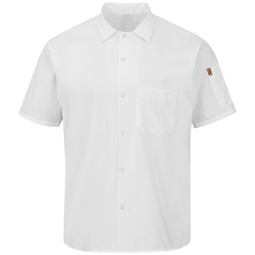Men's Short Sleeve Cook Shirt with OilBlok + MIMIX™