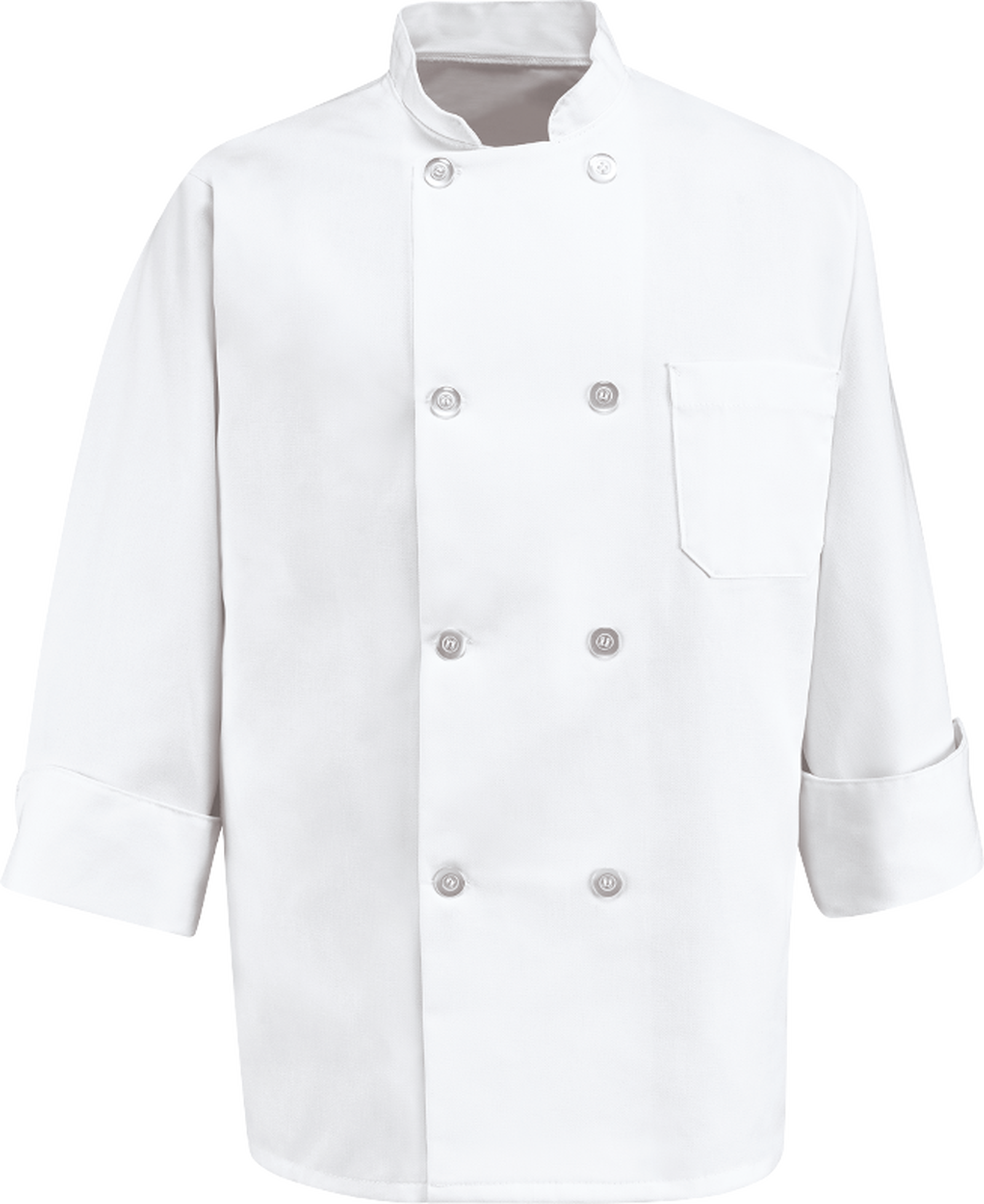 Chef Designs Eight Pearl Button Chef Coat