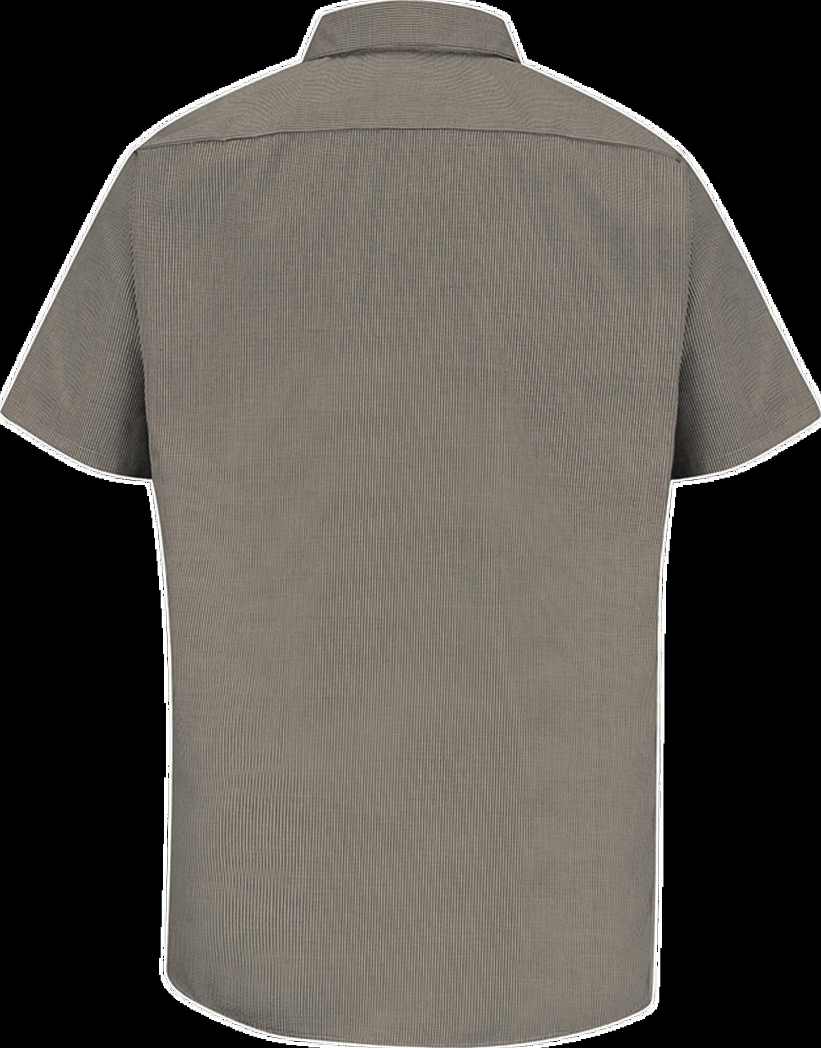 Men's Short Sleeve Microcheck Uniform Shirt