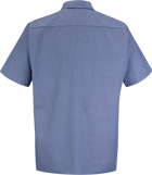 Men's Short Sleeve Geometric Microcheck Work Shirt