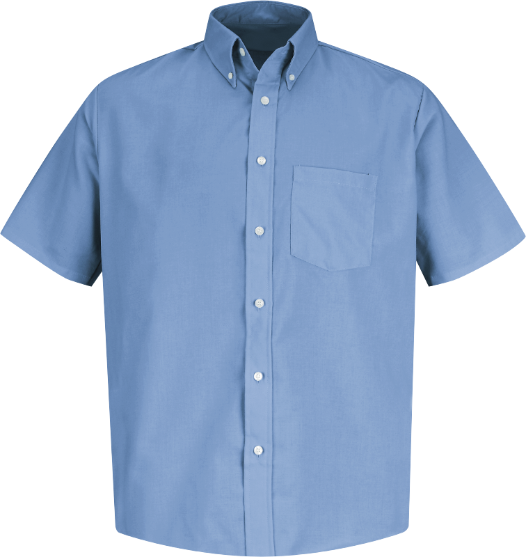 Big Mens Short Sleeve Easy Care Soil Resistant Shirt