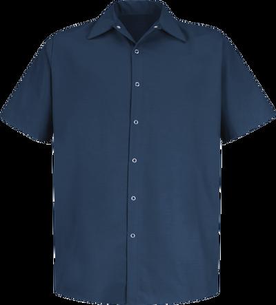 Men's Short Sleeve Specialized Pocketless Work Shirt