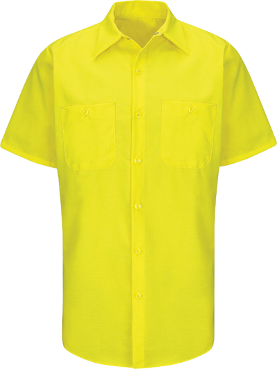 Short Sleeve Enhanced Visibility Ripstop Work Shirt