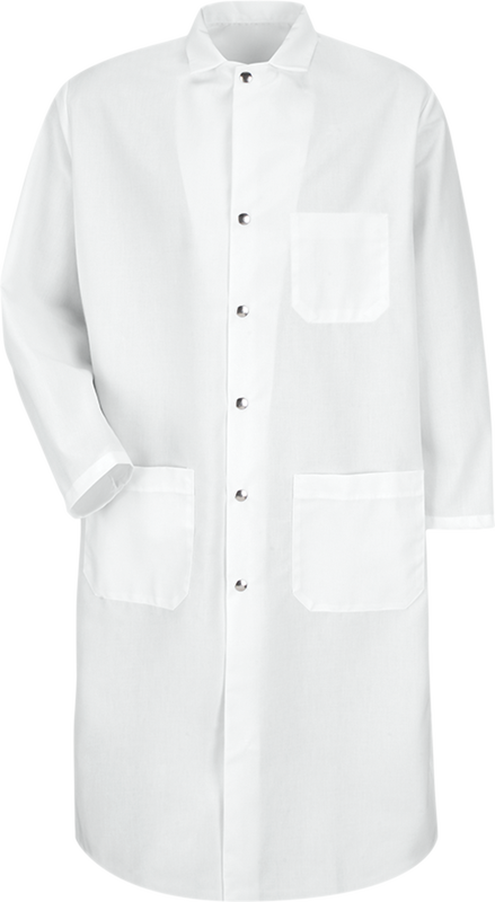 Snap-Front Spun Polyester Butcher Coat