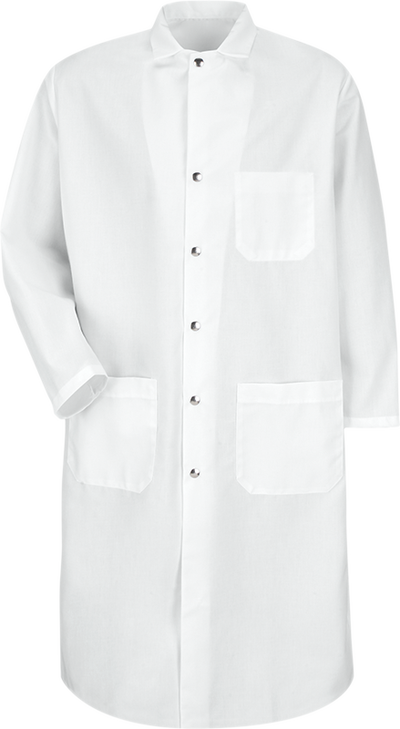 Snap-Front Spun Polyester Butcher Coat