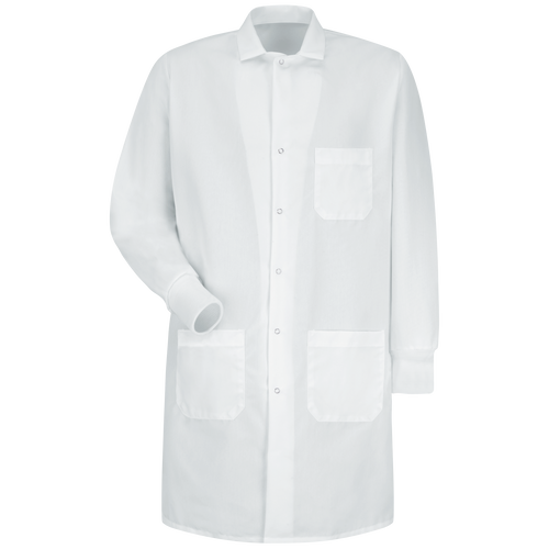 Unisex Specialized Cuffed Lab Coat with Exterior Pocket