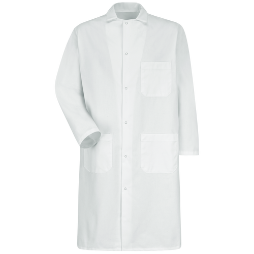 Gripper-Front Butcher Frock with Exterior Pocket