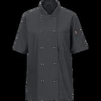 Women's Short Sleeve Chef Coat with OilBlok + MIMIX™