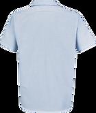 Men's Short Sleeve Industrial Stripe Work Shirt