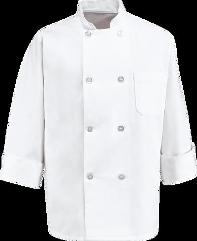 Chef Designs Eight Pearl Button Chef Coat