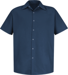 Men's Short Sleeve Specialized Pocketless Work Shirt