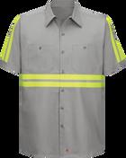 Short Sleeve Enhanced Visibility Cotton Work Shirt