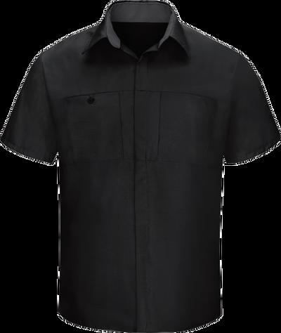 67c8acd869 Men's Short Sleeve Performance Plus Shop Shirt with OilBlok Technology