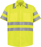 Men's Hi-Visibility Long Sleeve Work Shirt - Type R, Class 3
