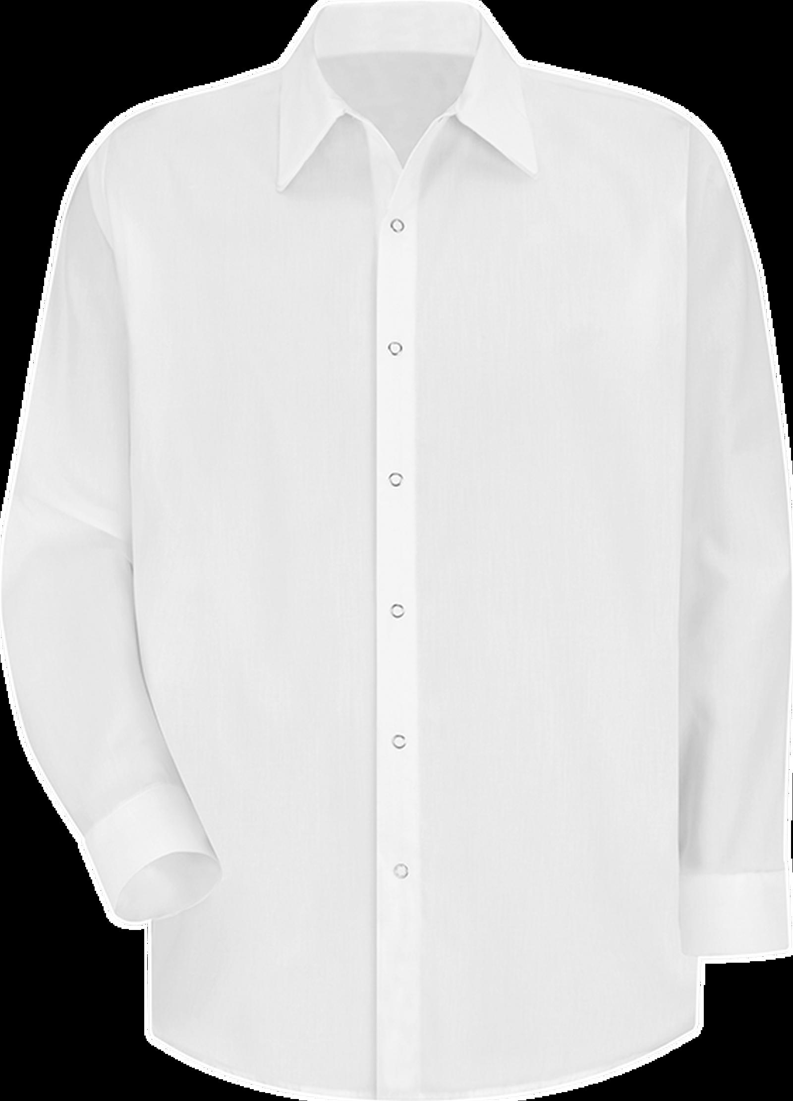 Men's Long Sleeve Specialized Pocketless Polyester Work Shirt