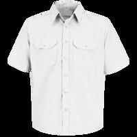 Men's Short Sleeve Solid Dress Uniform Shirt