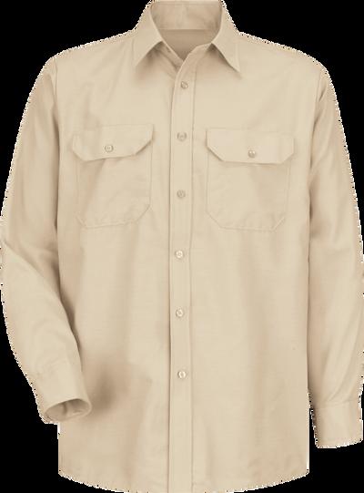 Men's Long Sleeve Solid Dress Uniform Shirt