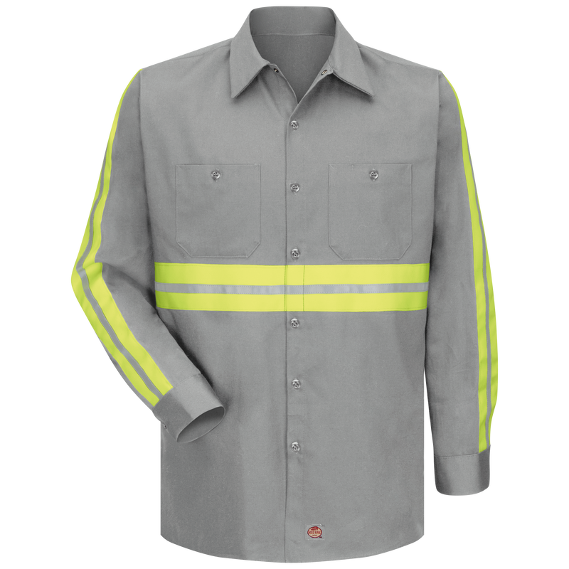 Long Sleeve Enhanced Visibility Cotton Work Shirt