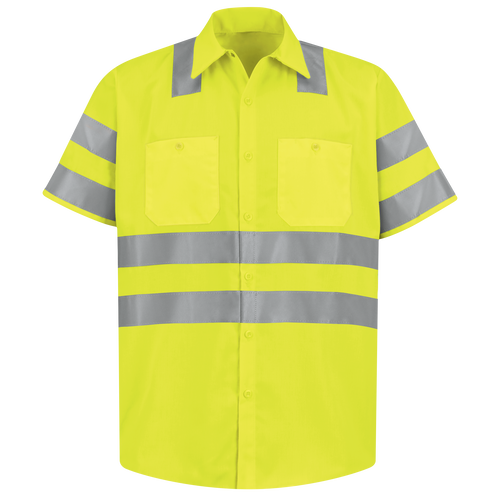 Men's Hi-Visibility Short Sleeve Work Shirt - Type R, Class 3