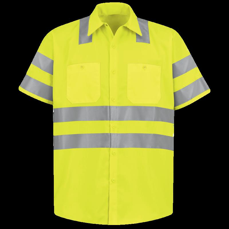 Men's Hi-Visibility Short Sleeve Work Shirt - Type R, Class 3