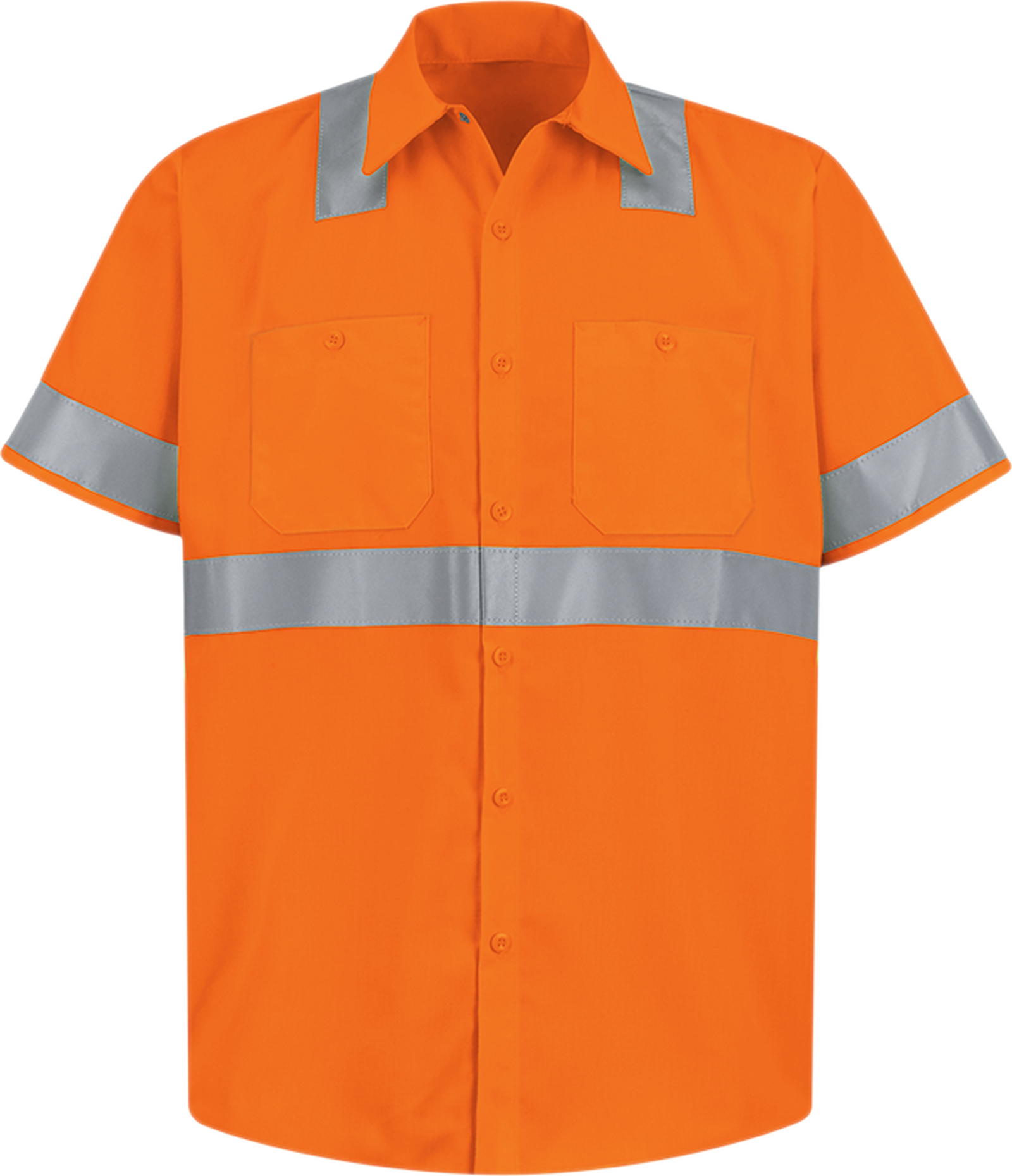 Men's Hi-Visibility Short Sleeve Work Shirt - Type R, Class 2
