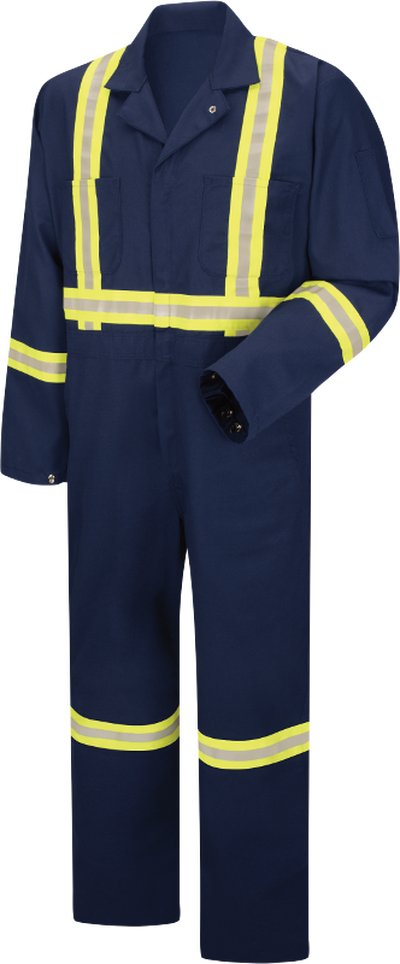 Enhanced Visibility Zip Front Coverall