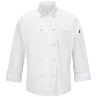 Chef Designs Men's Chef Coat with MIMIX™ and OilBlok